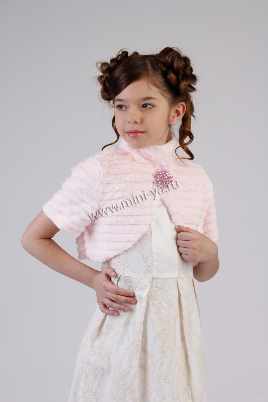 Болеро Жемчуг для девочки 06 137 серый Noble People